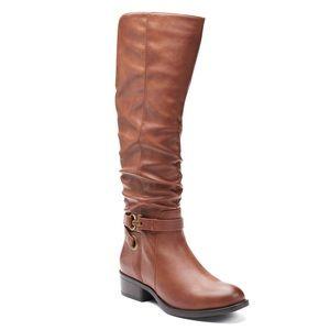 Apt 9 Meridian Women's Knee-High Boots, Cognac S 8